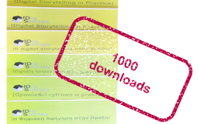 Pleased and proud of reaching the first 1000 download of the methodological guide on digital storytelling